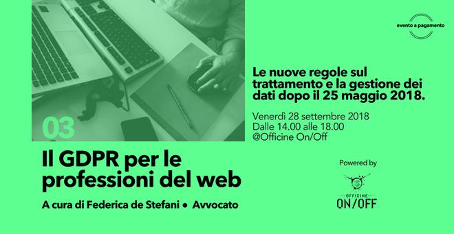 GDPR professioni web
